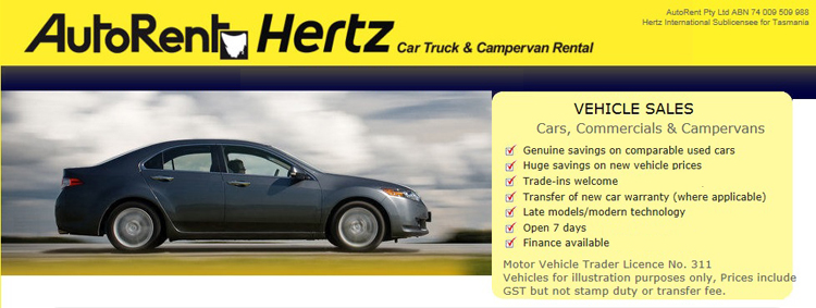 auto rent hertz cars for sale in tasmania on. Black Bedroom Furniture Sets. Home Design Ideas